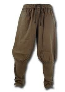 Viking Trousers - A variety of styles of trousers were worn by Norsemen. Some straight, some baggy, some elaborate, and some had attached socks - like the pair in the picture.