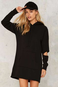 LNA Play Your Part Cut-Out Sweatshirt Dress