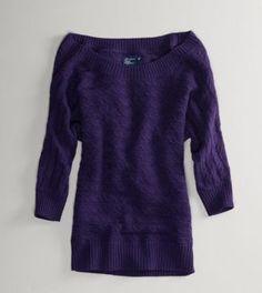 AE sweater. purple + comfy