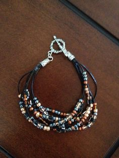 Multi strand beaded bracelet by BeadingBettie on Etsy $8.00