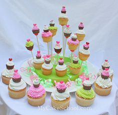 little cupcakes for cupcakes and cupcakes on a stick!