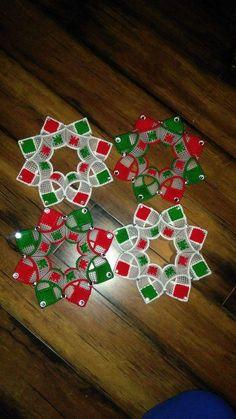 ^ No pattern, just picture. Plastic Canvas Coasters, Plastic Canvas Ornaments, Plastic Canvas Crafts, Plastic Canvas Patterns, Nativity Ornaments, Handmade Ornaments, Handmade Crafts, Diy And Crafts, Christmas Ornaments