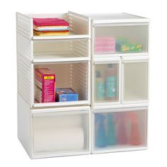 Like-it® Modular Storage System good for the coat closet to leave keys, papers, mail, etc Bathroom Organisation, Bathroom Storage, Home Organization, Under Sink Storage, Boat Storage, Modular Storage, College Dorm Rooms, College Life, Storage Solutions