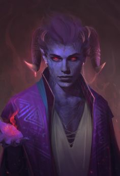 m Tiefling Sorcerer Robes Cloak portrait Traveler Tower male undercity urban City River lg Dungeons And Dragons Characters, Dnd Characters, Fantasy Characters, Fantasy Character Design, Character Design Inspiration, Character Art, Ange Demon, Demon Art, Fantasy Art Men