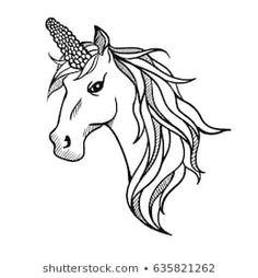 Ähnliche Bilder, Stockfotos und Vektorgrafiken von Vector silhouette of a horse's head - 645837871 | Shutterstock