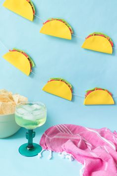 DIY taco banner from