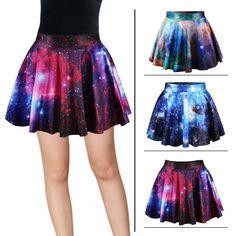 9e3c294df377c Harajuku Star Galaxy High Waist Skirt