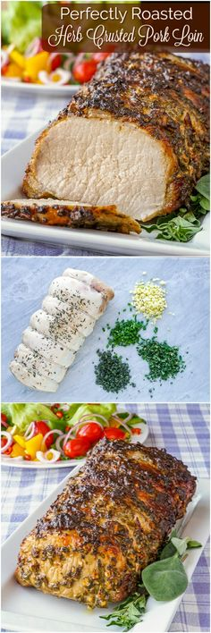 A simple but very flavourful preparation for an easy, succulent, perfectly roasted loin of pork. Makes an ideal comfort food, Sunday dinner. Roast Recipes, Dinner Recipes, Cooking Recipes, Healthy Recipes, Game Recipes, Sausage Recipes, Crockpot Recipes, Dinner Ideas, Pork Loin