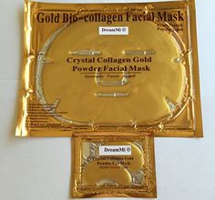 DreamMi  50  50  50 Pieces 24k Gold BioCollagen Facial Face Masks  50 Pairs Gold Eye Pads Anti WrinklesAging High Moisture By DreamMi -- Want additional info? Click on the image. (Note:Amazon affiliate link) #FacialMask