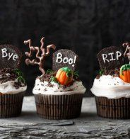 "Gâteau d'Halloween : le cupcake ""R.I.P."" - Cosmopolitan.fr"
