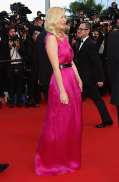 """Kirsten Dunst - Christian Dior  Actress Kirsten Dunst attends the """"On The Road"""" premiere wearing a Christian Dior gown during the 65th Annual Cannes Film Festival at Palais des Festivals on May 23, 2012, in Cannes."""