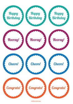 #Free #Printable Birthday labels