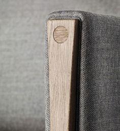 Detail of sofa by Carl Hansen