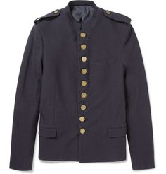 LANVIN  UNLINED COTTON TWILL MILITARY JACKET
