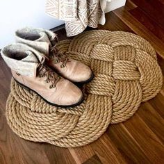 DIY Home Decor Crafts Rope Rug DIY