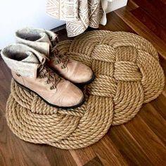 DIY Home Decor Crafts Rope Rug DIY
