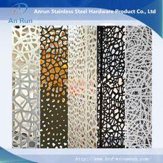 Le métal découpé au laser perforée en aluminium panneau décoratif avec test LEED