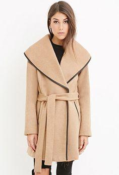 Belted Wool-Blend Coat | Forever 21 - 2000174568
