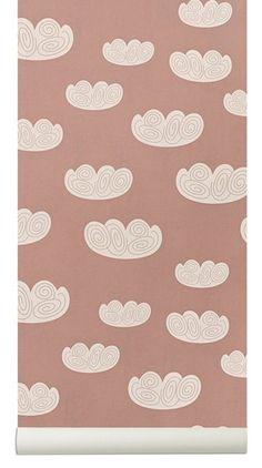 ferm LIVING ferm LIVING Cloud behang - roze