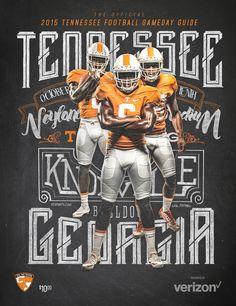 Tennessee Football Season Ticket / Program Design on Behance Football Ads, Football Recruiting, Football Design, Football Program, Football Season, Football Photos, College Football, Hero Poster, Soccer Photography