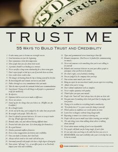 Psychology : Psychology : Trust Me: 55 Ways to Build Trust and Credibility