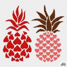 Pineapple, Cross Stitch, Flag, Crochet, Art, Cross Stitch Kitchen, Earth, Punto De Cruz, Naturaleza