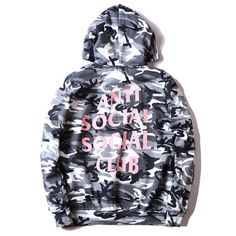 946ea09d5b38 Anti-Social Social Club Snow Camo Hoodie Comfortable and durable meant to  last for a long time. Material  Cotton and Polyester