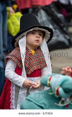 A young girl wearing full welsh national costume dress 'AberDewi' - St David's day patron saint celebrations in Swansea Wales UK, Stock Photo Swansea Bay, Swansea Wales, Welsh, Saint David's Day, Sir Anthony, World Thinking Day, Wales Uk, Costume Dress, Girls Wear