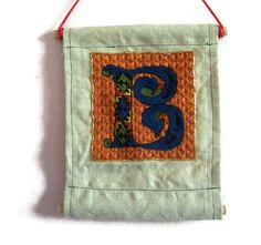 Traditional embroidery kit  Illuminated B by suislefil on Etsy