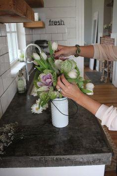 Concrete countertops Joanna Gaines's Blog   HGTV Fixer Upper   Magnolia Homes