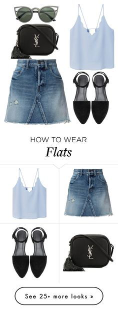 """Untitled #1036"" by rosechicgeorgia on Polyvore featuring Yves Saint Laurent and MANGO"