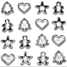 Dress It Up Holiday Embellishments-Mini Cookie Cutters