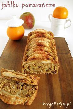 Przepis na pyszne i zdrowe wegańskie ciasto z jabłkami i pomarańczami. Lekkostrawne, bo z mąki razowej i bez dodatku tłuszczu.