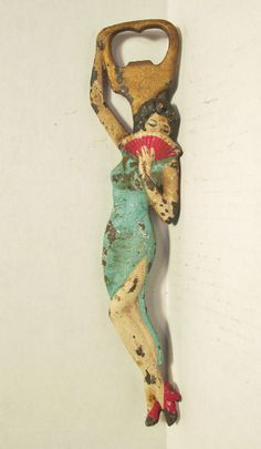 Cast Iron Figural Painted Bottle Opener