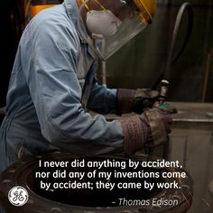 There are no accidents. #Edison #GE