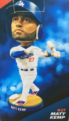 Matt Kemp #27 Bobblehead LA Dodgers Baseball Collectible New Giveaway 2013 #LosAngelesDodgers