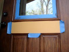 Gel Stain A Fiberglass Door DIY.