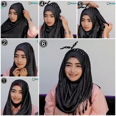 Tutorial Hijab Pashmina Kashmir Pesta/Wide Shawl Kashmir Hijab Tutorial for Party