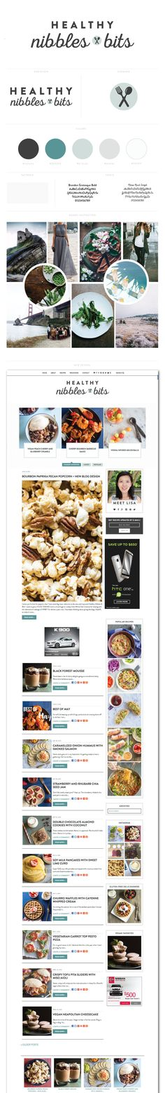 Healthy Nibbles and Bits Blog Design by White Oak Creative