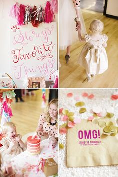 favorite-things-party-idea - caligraphy/handwriting sign and the napkin!