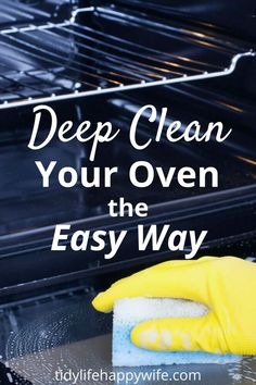 , Easy Way to Deep Clean An Oven , Is your oven and nasty gunky mess? Use this quick and easy method to deep clean and remove all of the caked-on, baked-on greasy gunk. Take your entire. Self Cleaning Ovens, Speed Cleaning, Household Cleaning Tips, Cleaning Checklist, House Cleaning Tips, Diy Cleaning Products, Cleaning Solutions, Spring Cleaning, Cleaning Schedules