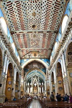 The Church of Santo Domingo (Interior) in Quito, Ecuador