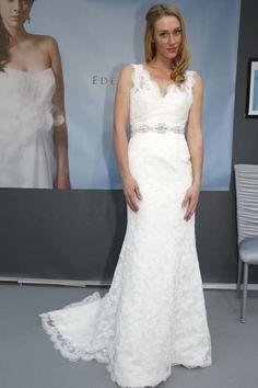 Eden Bridal - Bridal Fall 2013    TAGS:Embroidered, Floor-length, Train, White, Cream, Eden Bridal, Silk, Tulle, Linen, Elegant, Romantic