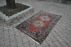 "Solft Color Turkish Rug 3'4"" x 5'9"" Nomadic Rug Decorative Floor Rug Boho Rug Turkey Rug Home Decor Solft Color Rug Wool Rug Rustic Rug"