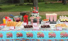 Firetruck and Dalmatian Party