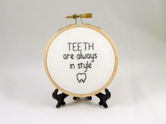Teeth Are Always In Style Dr Seuss Mini Cross by Quirkorium, $20.00