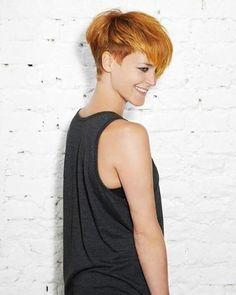 Diese 10 trendigen Kurzhaarfrisuren in Kupferfarben darfst Du nicht verpassen! - Neue Frisur