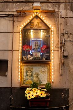 Things we love about Naples . Home Altar, Queen Of Heaven, Mama Mary, Pagan Witch, Religious Images, Holy Mary, Art Thou, Southern Italy, Blessed Virgin Mary