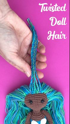 Meet Mara the mermaid! In this mini video tutorial I show you how I twisted her hair. If you wanna crochet your own amigurumi mermaid you can find the pattern in my Etsy shop (see link) Puppen Videos Twisted Doll Hair Etsy Embroidery, Embroidery Stitches Tutorial, Simple Embroidery, Crochet Patterns Amigurumi, Amigurumi Doll, Crochet Dolls, Crochet Mermaid Pattern, Crochet Fish, Knitting Patterns