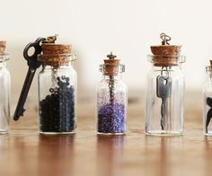 DIY Personalized Bottle Necklaces (how cute!)